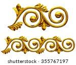golden ornamental segment for... | Shutterstock . vector #355767197