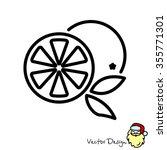 web line icon. orange   Shutterstock .eps vector #355771301