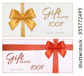 voucher template with floral... | Shutterstock . vector #355772495