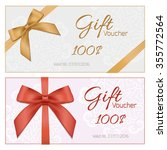 voucher template with floral... | Shutterstock . vector #355772564