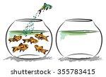 fish aquarium business concept    Shutterstock .eps vector #355783415