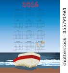 2016 Fisherman Boat Calendar