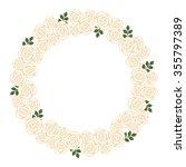 wreath of roses | Shutterstock .eps vector #355797389