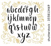 hand drawn alphabet. font | Shutterstock .eps vector #355813469