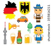 german culture symbols icons... | Shutterstock .eps vector #355816211