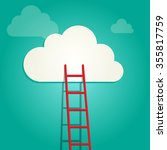 red ladder on the clouds  idea... | Shutterstock .eps vector #355817759