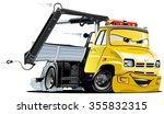 vector cartoon tow truck.... | Shutterstock .eps vector #355832315