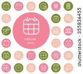 calendar outline  thin  flat ... | Shutterstock . vector #355836455