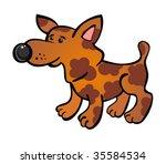 orange cartoon dog