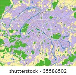 layered vector map of paris. | Shutterstock .eps vector #35586502