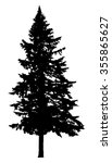 pine tree silhouette isolated... | Shutterstock .eps vector #355865627
