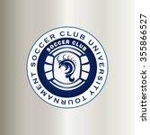 soccer shield | Shutterstock .eps vector #355866527