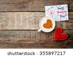 card for valentines day  red... | Shutterstock . vector #355897217