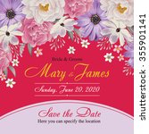 flower wedding invitation card  ...   Shutterstock .eps vector #355901141