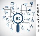infographics background seo... | Shutterstock .eps vector #355902221