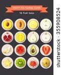 fruit icons. vector illustration | Shutterstock .eps vector #355908524