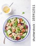 salad with chicken  vegetables  ... | Shutterstock . vector #355912511