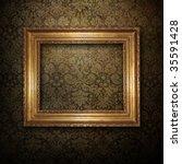 Golden Frame Over Grunge...