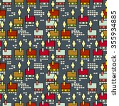 seamless raster pattern with... | Shutterstock . vector #355934885