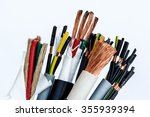 closeup of a electric cable on... | Shutterstock . vector #355939394