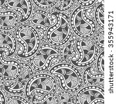 hand drawn seamless paisley... | Shutterstock .eps vector #355943171