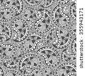 hand drawn seamless paisley... | Shutterstock .eps vector #355943171