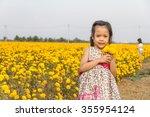 adorable girl smiling on...   Shutterstock . vector #355954124