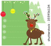 christmas greeting card with... | Shutterstock .eps vector #355956134