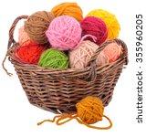 Colorful Woolen Yarn Balls In...
