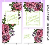 romantic invitation. wedding ... | Shutterstock . vector #355964405