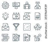 project development icon set...   Shutterstock .eps vector #355964939