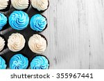 Tasty Colourful Cupcakes In A...