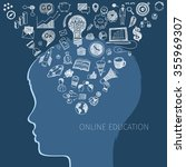 concept of online education. e... | Shutterstock . vector #355969307