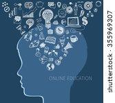 concept of online education. e... | Shutterstock . vector #355969307
