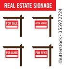 vector real estate signage set   Shutterstock .eps vector #355972724