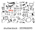 hand drawn seamless doodle... | Shutterstock .eps vector #355983095