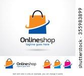 online shop logo template... | Shutterstock .eps vector #355983899