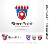 store point logo template... | Shutterstock .eps vector #355983905