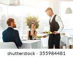 happy couple in love having...   Shutterstock . vector #355984481