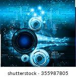 dark blue eye light abstract... | Shutterstock .eps vector #355987805