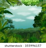 tropical background beautiful... | Shutterstock .eps vector #355996157