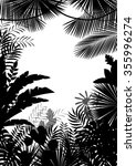 exotic tropical background of... | Shutterstock .eps vector #355996274