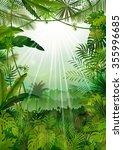 forest landscape of tropical... | Shutterstock .eps vector #355996685
