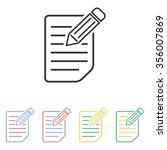 registration  icon  on white...   Shutterstock .eps vector #356007869