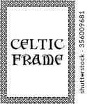 celtic border frame on a white...