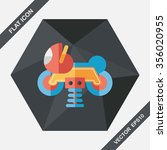 playground toy motor  flat icon ... | Shutterstock .eps vector #356020955