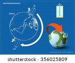 teleportation device. | Shutterstock .eps vector #356025809