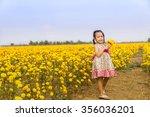 adorable girl smiling on...   Shutterstock . vector #356036201