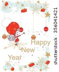 happy new year vector... | Shutterstock .eps vector #356041421