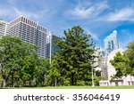 green lawn with modern building ... | Shutterstock . vector #356046419